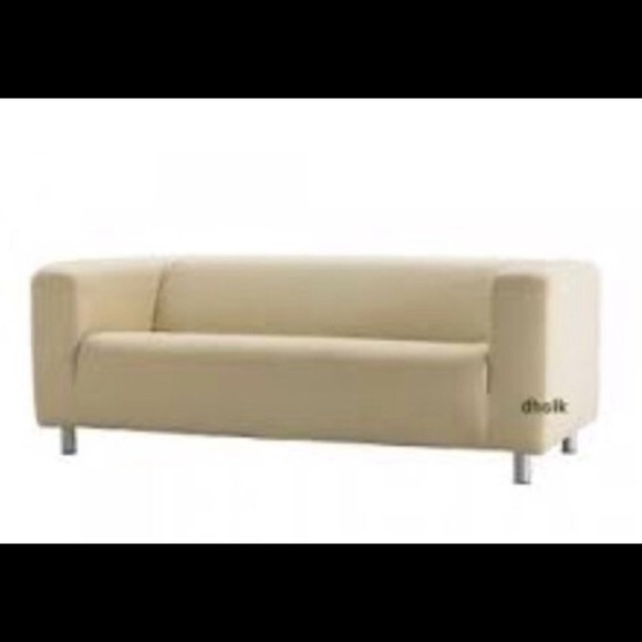 Fine Ikea Klippan Beige Loveseat Slipcover Boutique Gmtry Best Dining Table And Chair Ideas Images Gmtryco